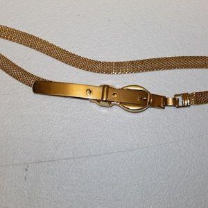Vintage Gold-tone mesh belt